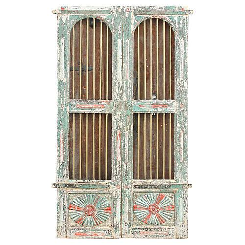 Antique Solid Brass Jali Haveli Door