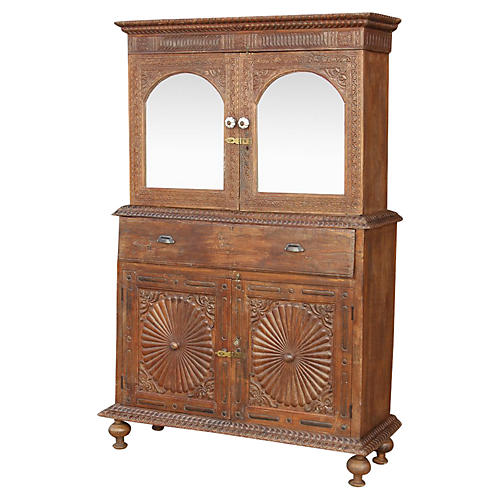 Rare Anglo-Indian Secretary Cabinet