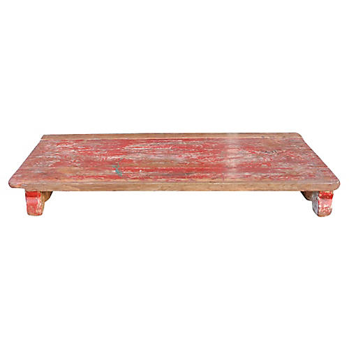 Scarlet Painted Bajot Table