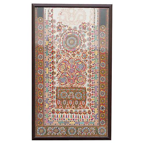 Rabari Barmer Antique Frame Tapestry