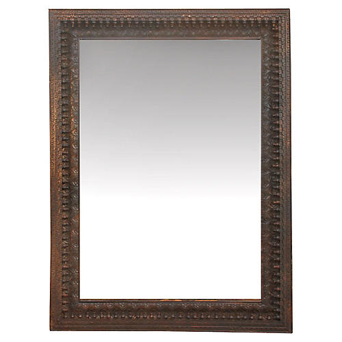 Finely carved Anglo Indian Floor Mirror