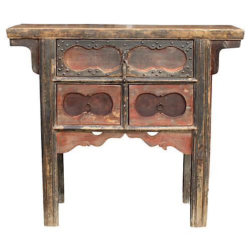 19th-C. Primitive Money Dresser