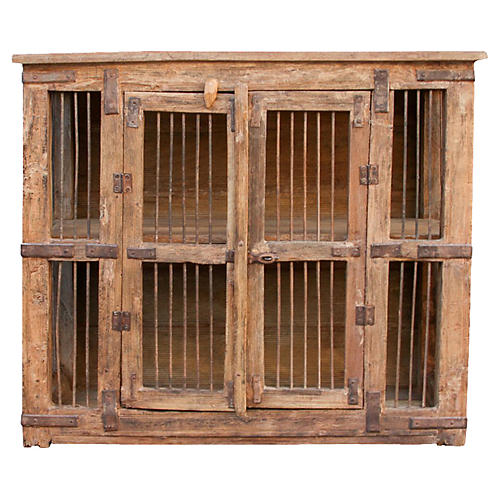 Antique Pinjara Iron Jali Cabinet