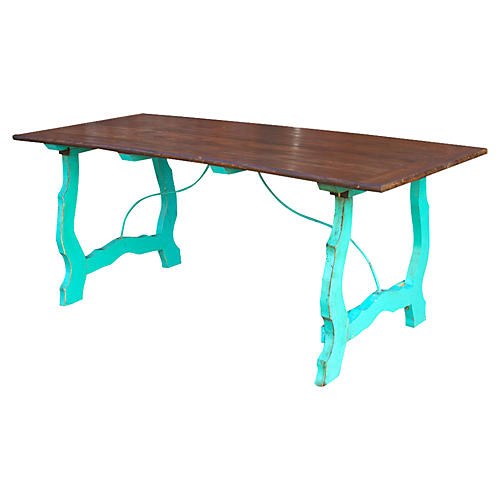 Colonial Country Turquoise Table