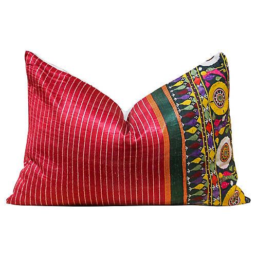 Hensi Antique Mashru Tribal Pillow