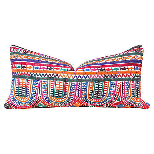 Colorful Kutch Tribal Pillow
