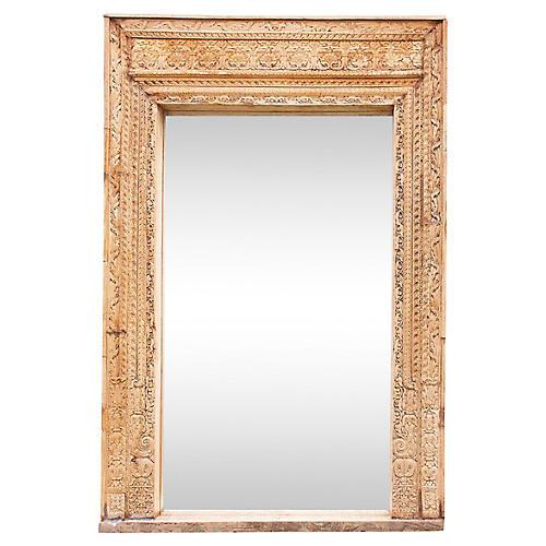 18th Century Rosebud Floor Mirror