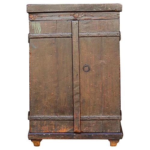 Jalaka Old Door Nightstand Cabinet