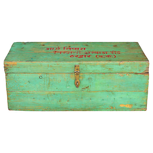 Early 20th C. Haridwar Painted Trunk