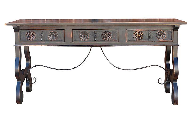 17th C. Style Spanish Toledo Console