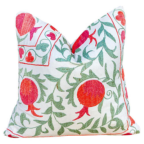Anar Pomegranate & Ivy Suzani Pillow