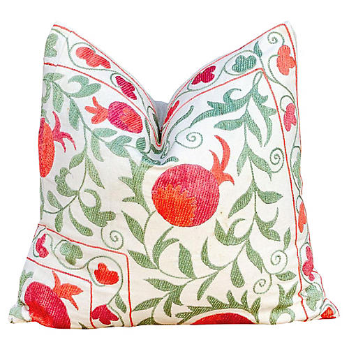 Remani Pomegranate & Ivy Suzani Pillow