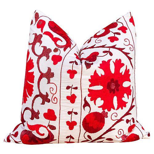 Ada Royal Red Suzani Pillow