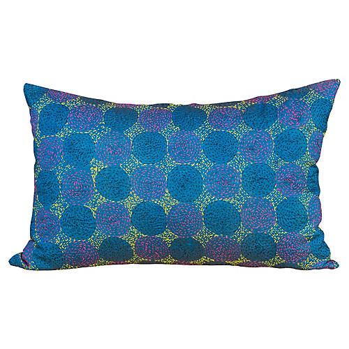 Sini Chakra Kantha Silk Pillow