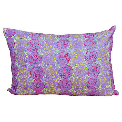 Lavin Chakra Kantha Silk Pillow