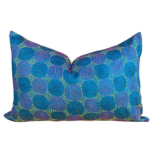 Nilan Chakra Kantha Silk Pillow