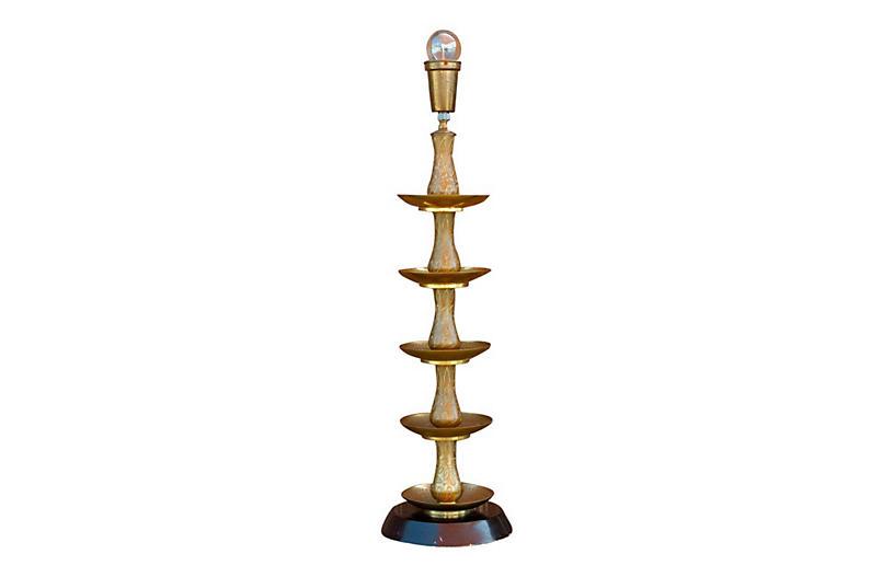 Royal Kashmiri Engraved Brass Lamp