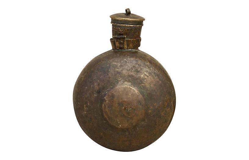 Antique Indian Sorali Brass Bottle