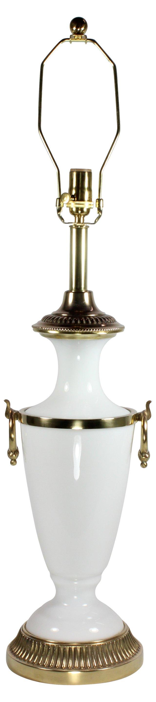 Opaline Glass Trophy Lamp by Kessler