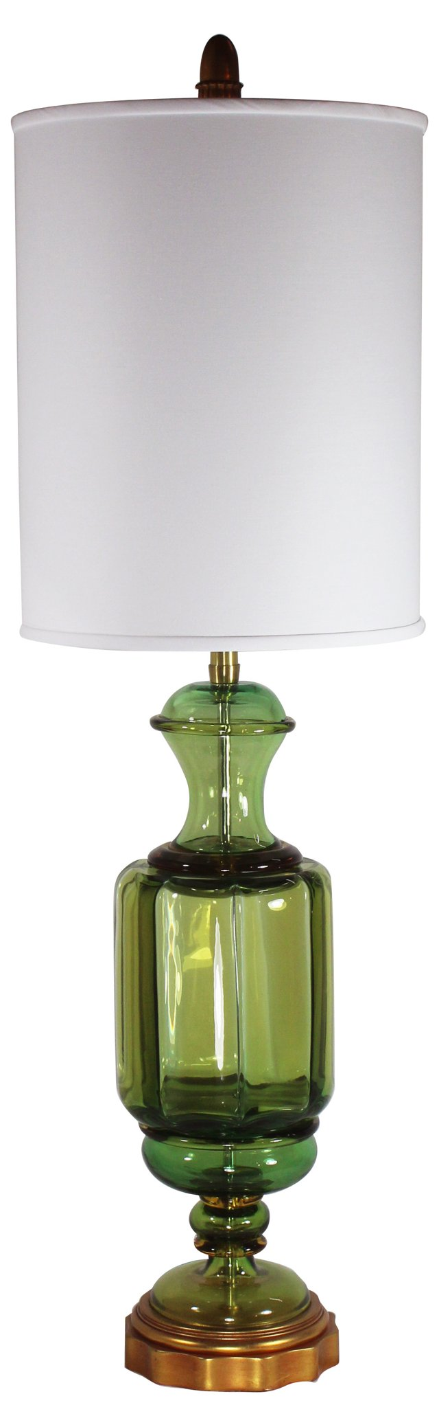 Seguso Murano Glass Lamp