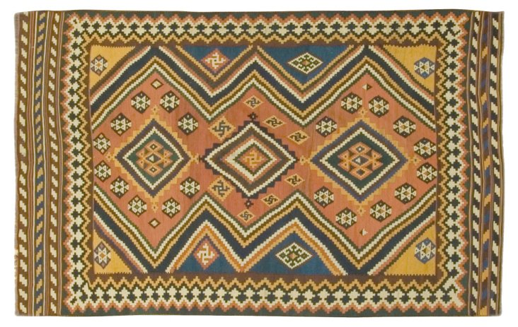 Persian Qashqai Kilim 5'2 x 8'3