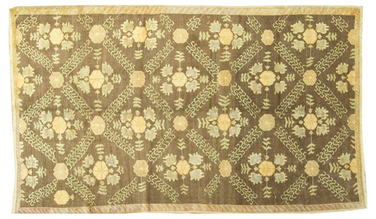 """Oushak Hand Knotted Rug 4'9"""" x 8'1"""""""