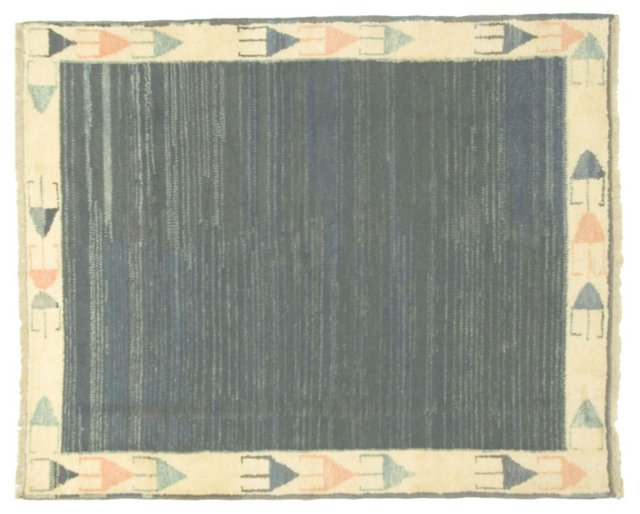 Gabbeh Hand Knotted Rug 4'9 x 5'9