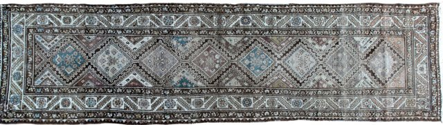 Antique Malayer Runner, 3'2 x 12'