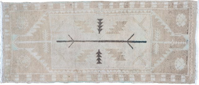 "Oushak Hand Knotted Rug 1'9"" x 4'"