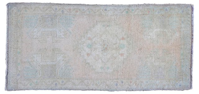 "Hand-Knotted Oushak Rug, 1'8"" x 3'6"""