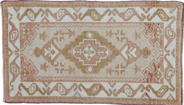"""Oushak Hand-Knotted Rug, 1'9"""" x 3'"""
