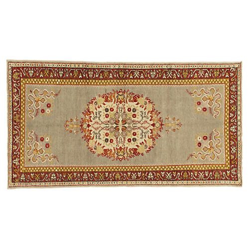 """Oushak Hand-Knotted Rug, 3'5"""" x 6'7"""""""