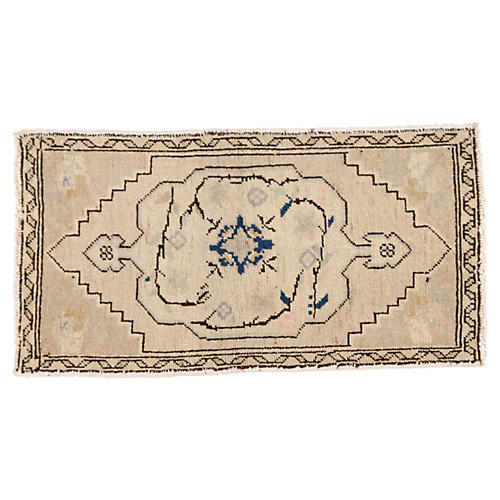 "Turkish Yastik Rug 1'9"" x 3'2"""