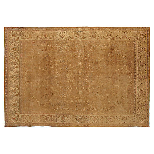 "Indo Tabriz Carpet, 9' x 13'4"""