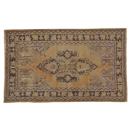 "Turkish Oushak Rug, 3'4"" x 5'6"""