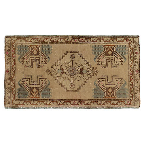 "Turkish Yastik Rug, 1'8"" x 3'1"""