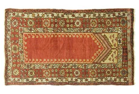 Turkish Oushak Rug, 3'6