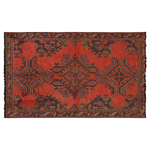 "Turkish Oushak Rug, 4'2"" x 6'6"""