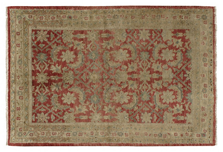 Turkish Oushak Rug, 3'6