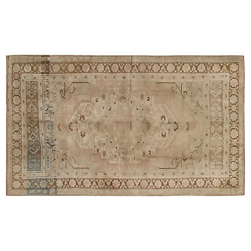 "Turkish Oushak Rug, 5'5"" x 9'2"""