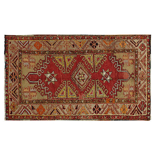 "Turkish Oushak Rug, 3'5"" x 5'9"""