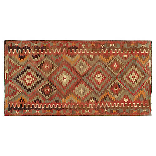"Turkish Kilim, 5'2"" x 10'2"""
