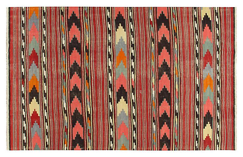 Turkish Hand Woven Kilim, 7'2