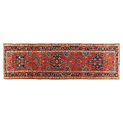"Persian Heriz Runner, 4'4"" x 14'4"""