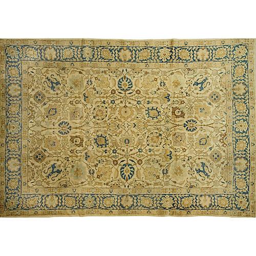 """Persian Tabriz Rug, 7'9"""" x 11'5"""""""