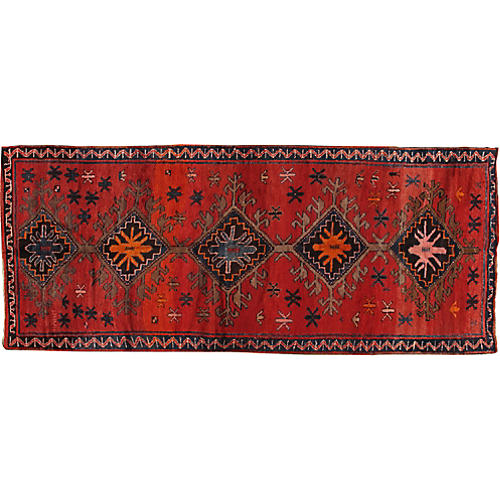 Turkish Oushak Runner, 4' x 12'6""