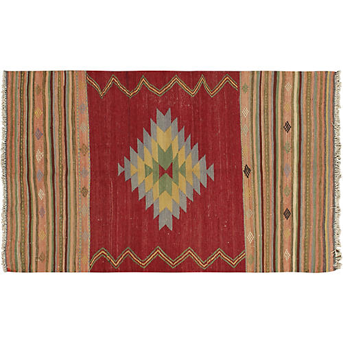 "Turkish Kilim, 3'11"" x 6'7"""