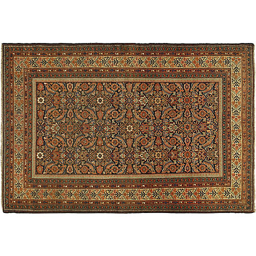 "Antique Malayer Rug, 4'2"" x 6'3"""