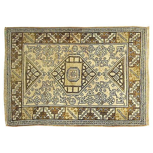 Turkish Oushak Rug, 4' x 5'10""