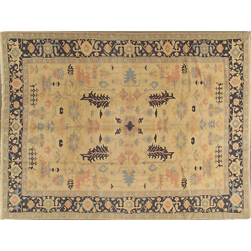 Turkish Oushak Rug, 9' x 12'2""
